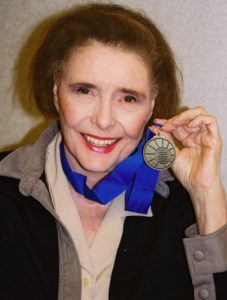 Patricia Neal with medallion