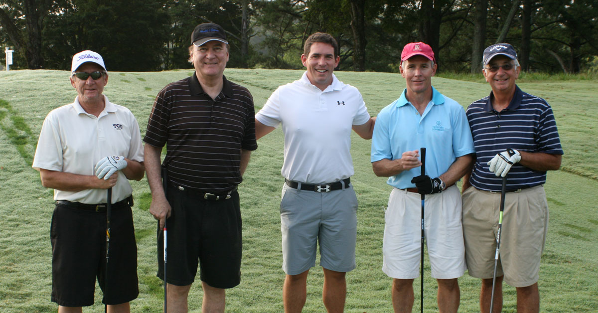 Stallings (center) played the morning round with the foursome of Dr. Bill Hall, Covenant Health CEO Tony Spezia, Dr. Mitch Dickson and Covenant Health Board Member Joe Sutter.
