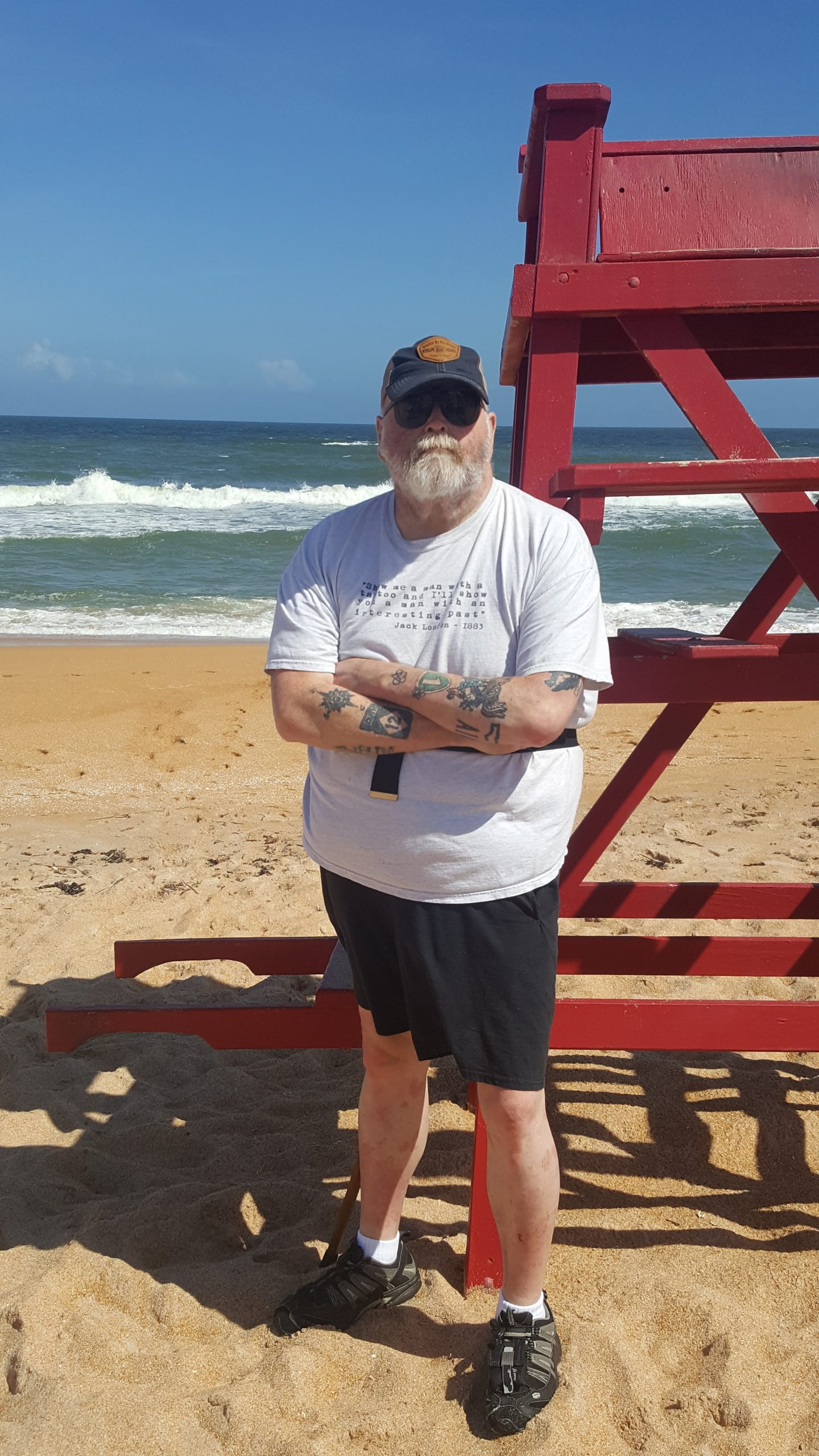 Danny Stines at the beach